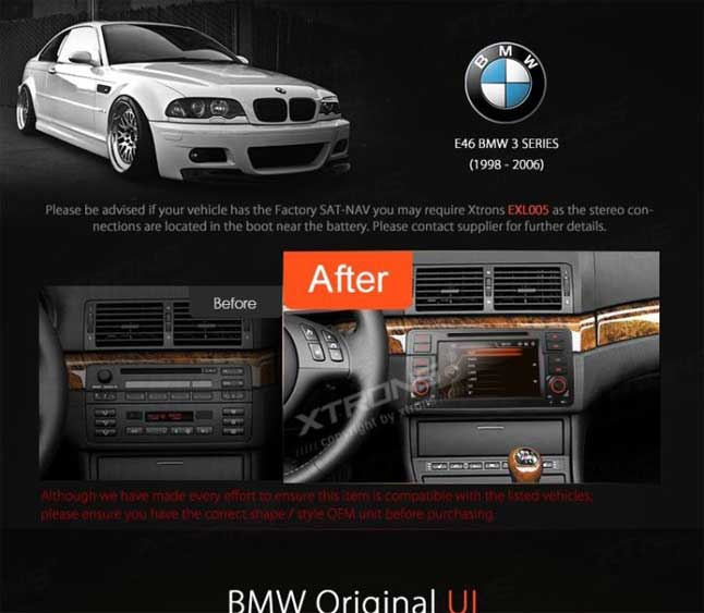 autoradio tactile 7 gps dvd sd usb por bmw e46 1080p. Black Bedroom Furniture Sets. Home Design Ideas