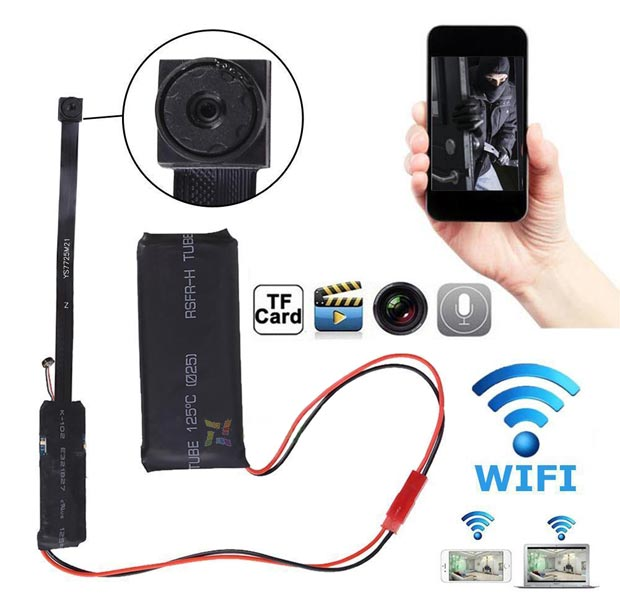 mini ip camera espion wifi hd sans fil detection mouvement led me smile. Black Bedroom Furniture Sets. Home Design Ideas